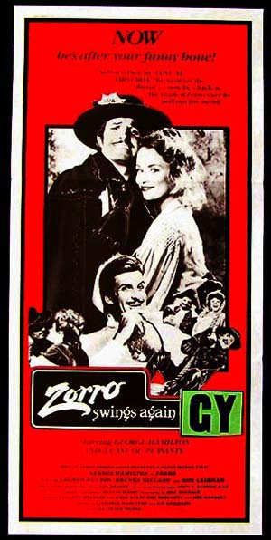 ZORRO, THE GAY BLADE '81-George Hamilton daybill