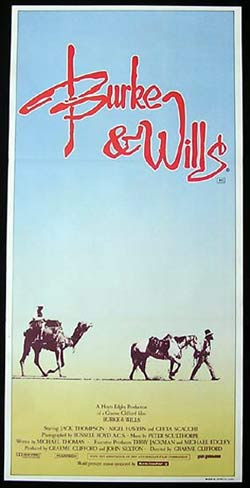 BURKE AND WILLS Original Daybill Movie poster Jack Thompson Nigel Havers