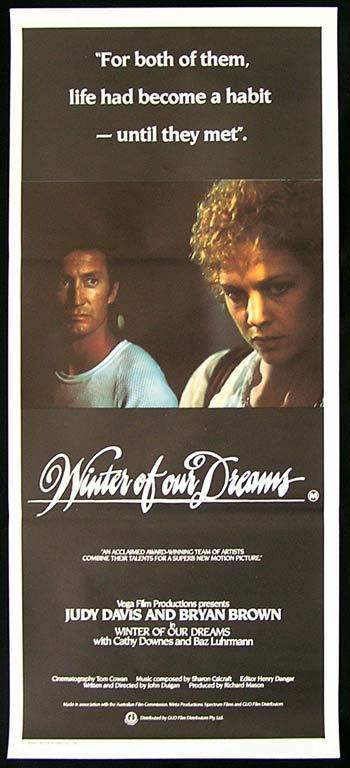 WINTER OF OUR DREAMS Original Daybill Movie poster Judy Davis