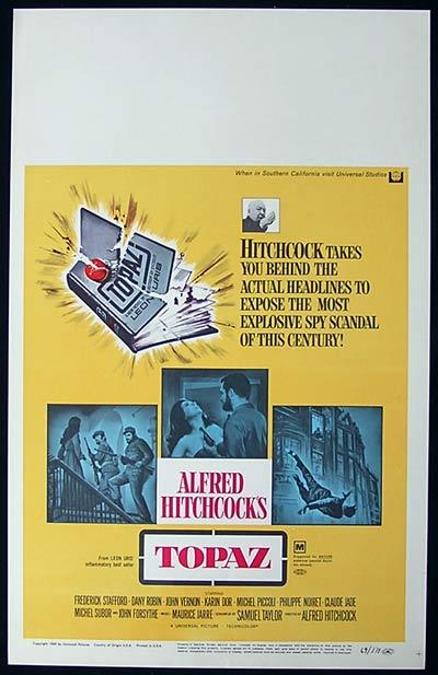 TOPAZ '69-Alfred Hitchcock-Forsythe RARE US Window Card poster