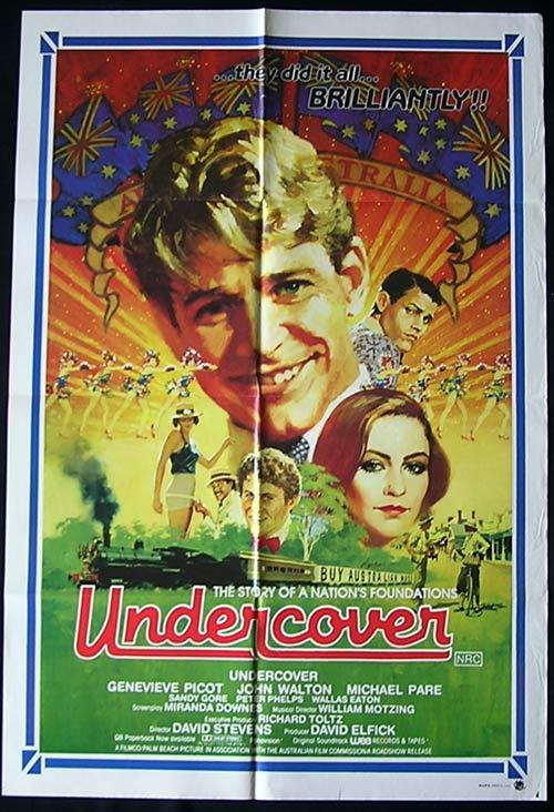 UNDERCOVER (1983) Picot Steam Engine Australian Cinema 1 SHEET poster