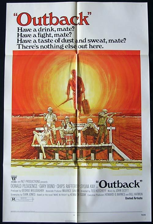 WAKE IN FRIGHT aka OUTBACK Rare US One sheet Movie Poster Chips Rafferty