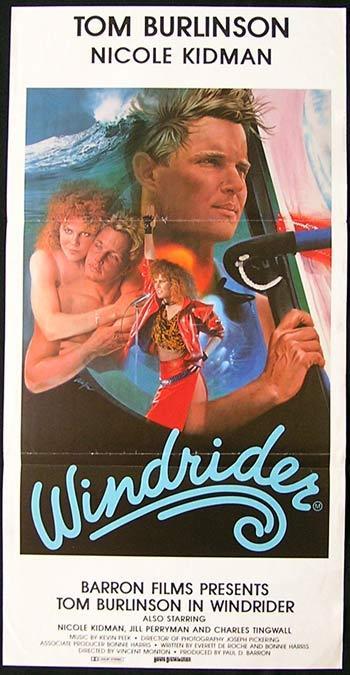 WINDRIDER '86 Nicole Kidman Tom Burlinson WINDSURFING Australian Daybill poster