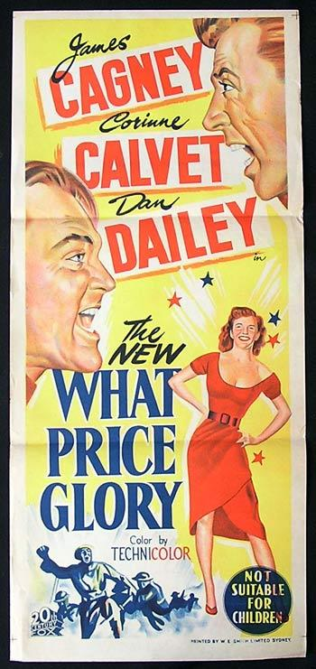 WHAT PRICE GLORY '52 Cagney JOHN FORD Daybill Movie Poster