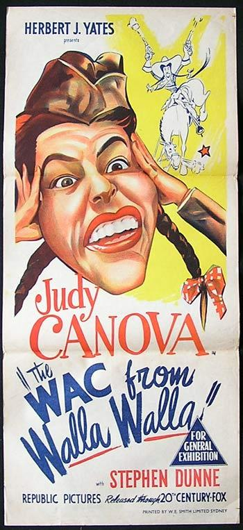 WAC FROM WALLA WALLA '52 Judy Canova Movie poster