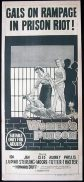 WOMENS PRISON Cleo Moore Daybill Movie poster