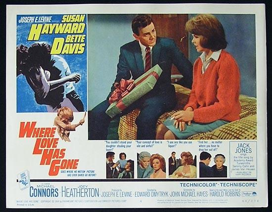WHERE LOVE HAS GONE '64 Susan Hayward-Bette Davis Lobby Card #4