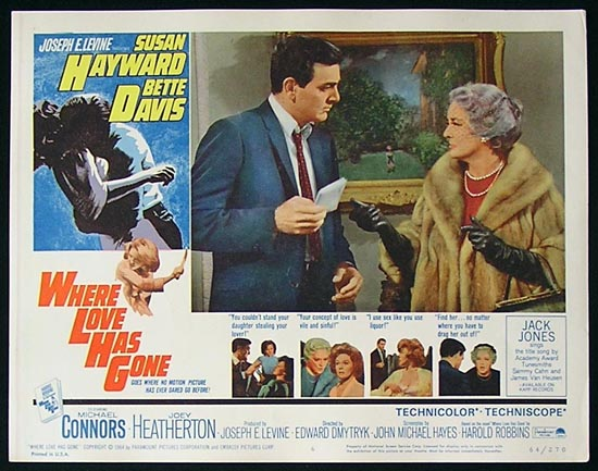 WHERE LOVE HAS GONE '64 Susan Hayward-Bette Davis Lobby Card #6