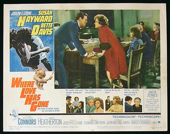 WHERE LOVE HAS GONE '64 Susan Hayward-Bette Davis Lobby Card #5