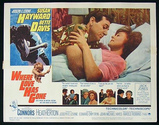 WHERE LOVE HAS GONE '64 Susan Hayward-Bette Davis Lobby Card #1