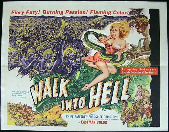 WALK INTO HELL aka WALK INTO PARADISE '56 Chips Rafferty US Half Sheet poster