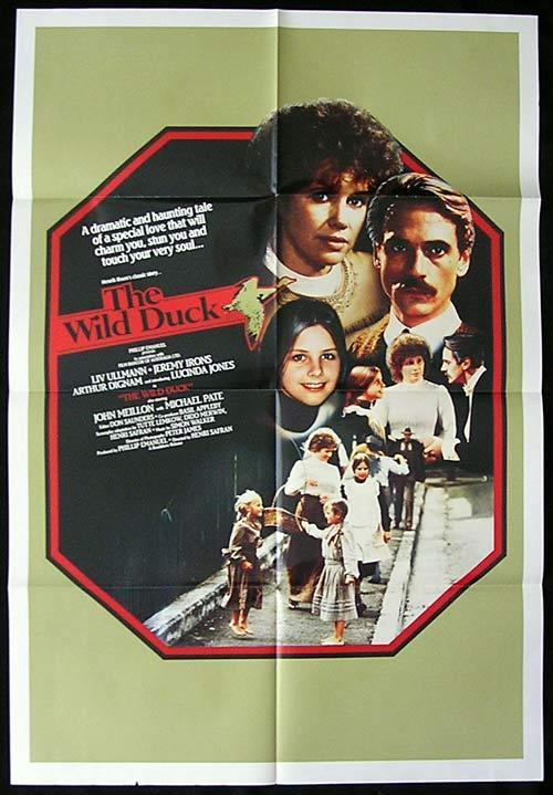 "WILD DUCK, The 1983 Liv Ullmann ORIGINAL 1sh poster ""B"""