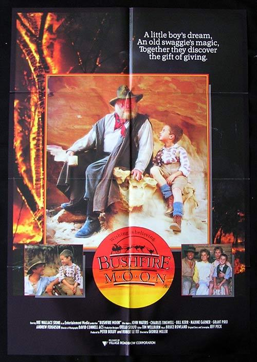BUSHFIRE MOON Movie Poster 1987 Miracle Down Under George Miller Australian One sheet
