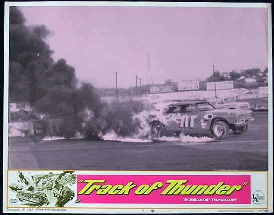 TRACK OF THUNDER 1967 Motor Racing US Lobby Card 7