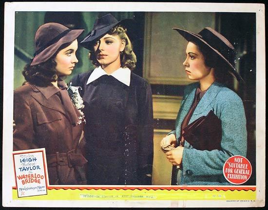 WATERLOO BRIDGE 1940 Vivien Leigh RARE Lobby card