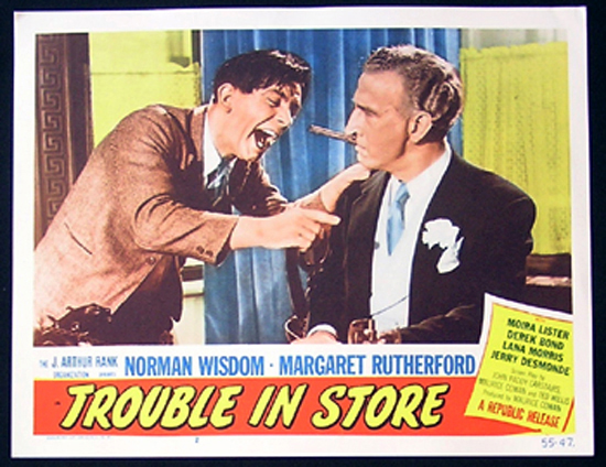 TROUBLE IN STORE Lobby Card 2 1955 Norman Wisdom British Comedy