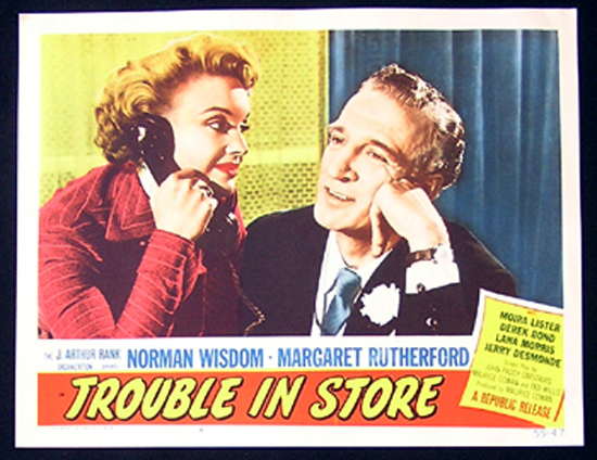 TROUBLE IN STORE Lobby Card 6 1955 Norman Wisdom British Comedy