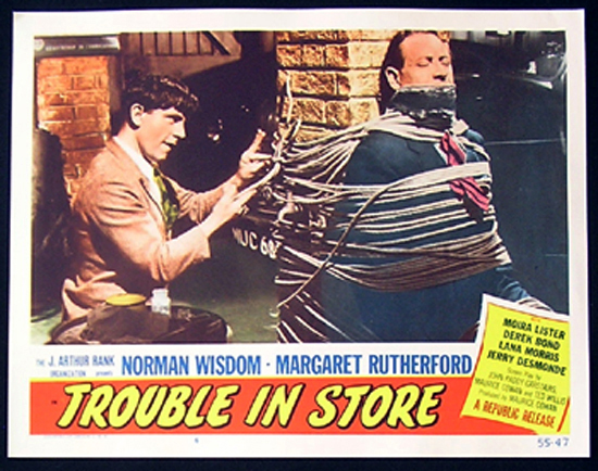 TROUBLE IN STORE Lobby Card 7 1955 Norman Wisdom British Comedy