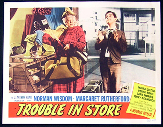 TROUBLE IN STORE Lobby Card 8 1955 Norman Wisdom British Comedy