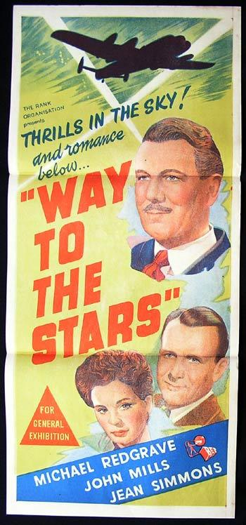 WAY TO THE STARS '45 Michael Redgrave ASQUITH poster