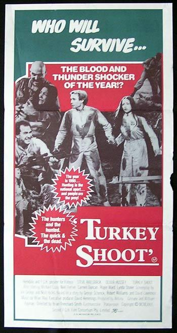 TURKEY SHOOT Movie poster 1982 Ozploitation RARE Daybill