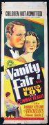 VANITY FAIR Long Daybill Movie Poster 1932 Myrna Loy