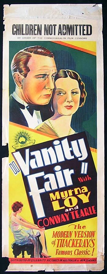 VANITY FAIR Long Daybill Movie Poster 1932 Myrna Loy