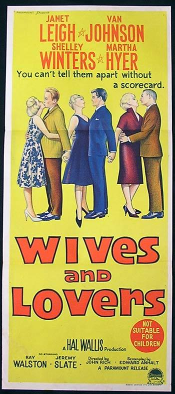 WIVES AND LOVERS Movie poster 1963 Janet Leigh Australian Daybill