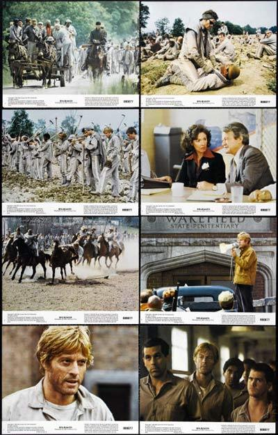 BRUBAKER Lobby card Set 1980 Robert Redford