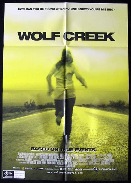 WOLF CREEK Original Movie Poster 2005 John Jarratt Australian one sheet