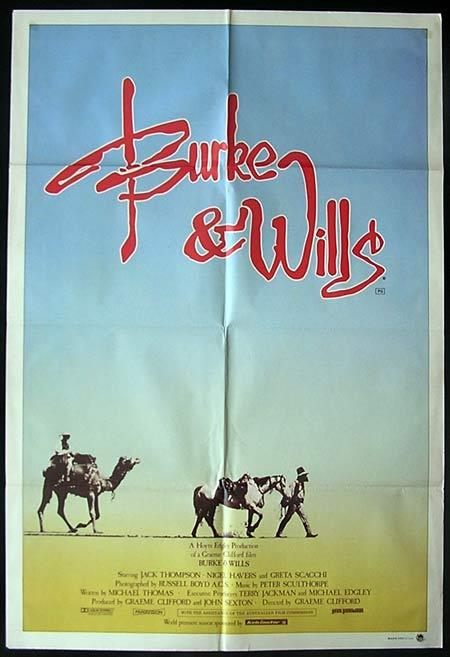 BURKE AND WILLS 1985 Jack Thompson Scaachi ONE SHEET Movie poster