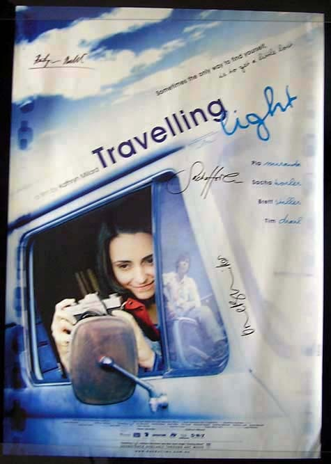 TRAVELLING LIGHT Sacha Horler AUTOGRAPHED Movie Poster Australian One sheet