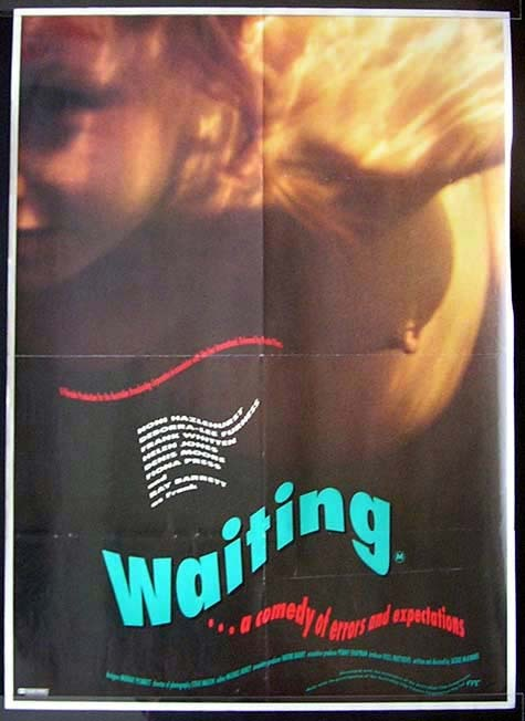 WAITING Noni Hazlehurst Ray Barrett Australian 1 sheet Movie poster