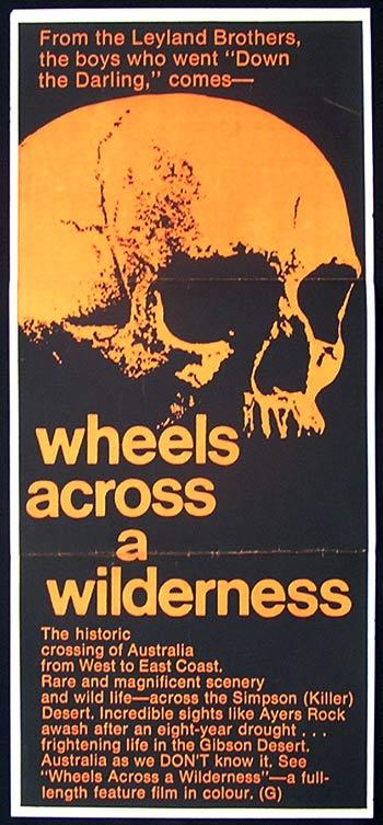WHEELS ACROSS A WILDERNESS Daybill Movie poster 1966 Leyland Brothers Australian Cinema