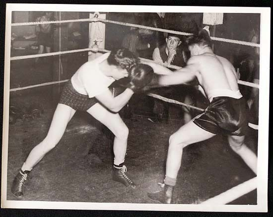 TOMMY BURNS c.1940s Rare BOXING Still BW photo 9