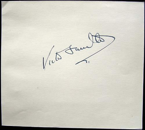 VICTOR SAVILLE Autograph on an Album Page