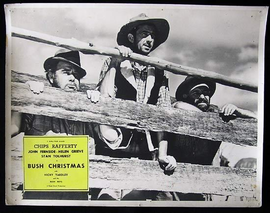 BUSH CHRISTMAS 1947 Rare Country of Origin CHIPS RAFFERTY Lobby Card 1