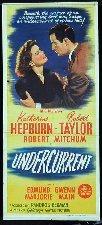 UNDERCURRENT Daybill Movie poster 1946 Katharine Hepburn Film Noir
