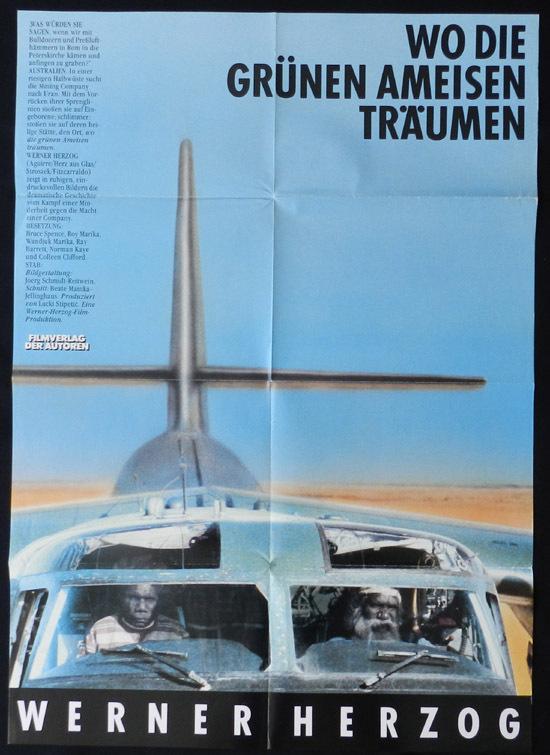 WHERE THE GREEN ANTS DREAM Ray Barrett Bruce Spence Rare Original German Movie Poster