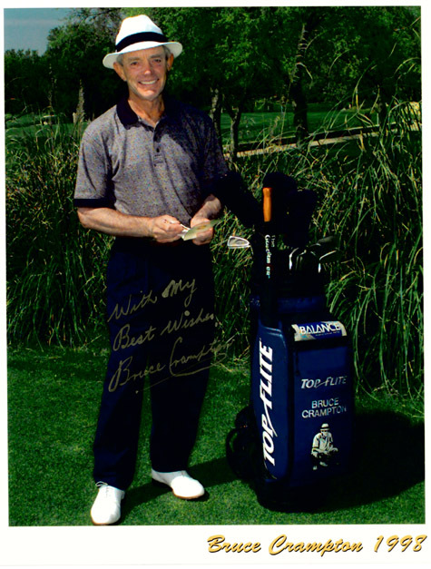 "Authentic Bruce Crampton Autographed Colour Photo 8"" x 10""."