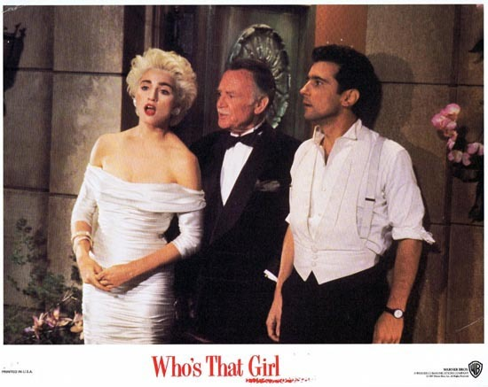 WHO'S THAT GIRL Lobby Card Madonna John Mills Griffin Dunne