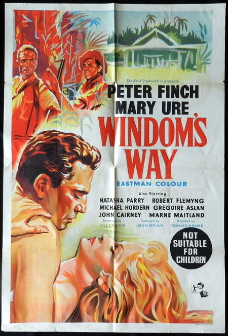 WINDOMS WAY 1957 Rare Peter Finch Australian One sheet Movie poster
