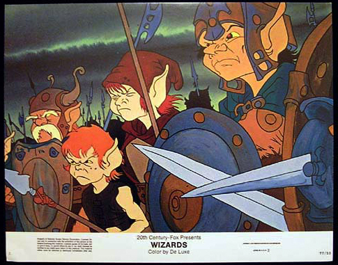 WIZARDS Movie Poster 1977 Ralph Bakshi Lobby Card 1