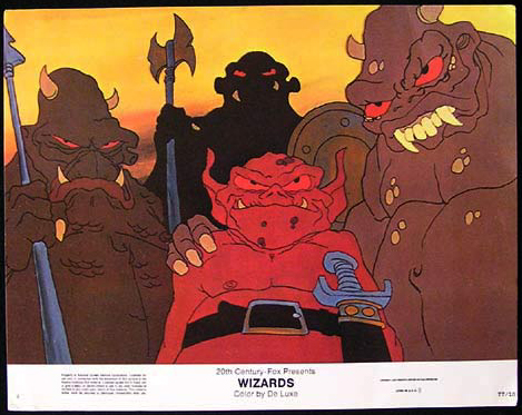 WIZARDS Movie Poster 1977 Ralph Bakshi Lobby Card 4