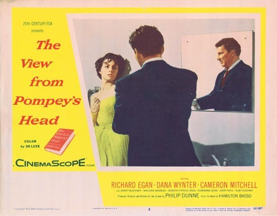 VIEW FROM POMPEY'S HEAD aka SECRET INTERLUDE 1955 Richard Egan Dana Wynter Lobby Card 2