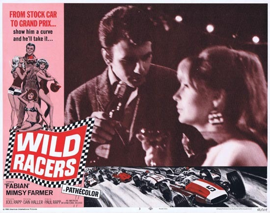 WILD RACERS Lobby card 3 1968 Fabian Grand Prix Motor Racing