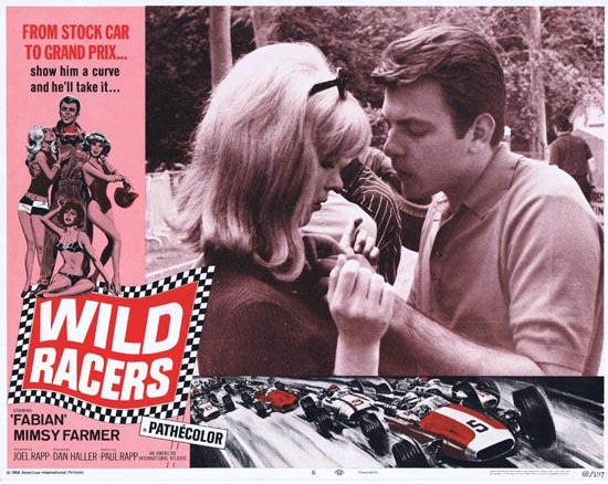 WILD RACERS Lobby card 6 1968 Fabian Grand Prix Motor Racing