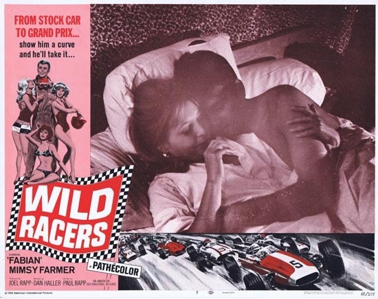 WILD RACERS Lobby card 7 1968 Fabian Grand Prix Motor Racing