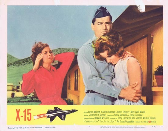 X-15, Richard D. Donner (as credited), David McLean Charles Bronson