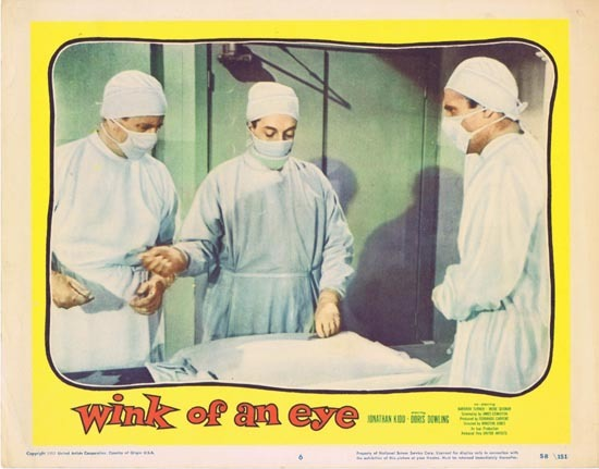 WINK OF AN EYE 1958 Lobby Card 6 Jonathan Kidd Doris Dowling
